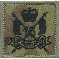 Royal Electrical & Mechanical Engineers 1942-1947 with King's Crown. Brass Other Ranks' metal cap badge