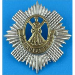 Royal Scots (The Royal Regiment)   Bi-metallic Other Ranks' metal cap badge