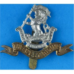 Duke of Wellington's Regiment (West Riding)   Bi-metallic Other Ranks' metal cap badge