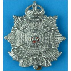 Queen's (Royal West Surrey Regiment) - With Scroll Pre-1920 Bi-metallic Other Ranks' metal cap badge