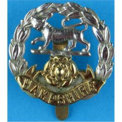 Hampshire Regiment Pre-1949  Bi-metallic Other Ranks' metal cap badge
