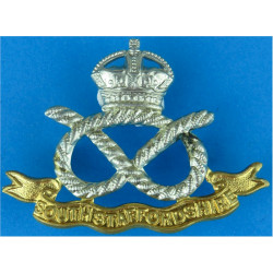 South Staffordshire Regiment  with King's Crown. Bi-metallic Other Ranks' metal cap badge