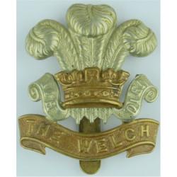 Welch Regiment Post-1920  Bi-metallic Other Ranks' metal cap badge