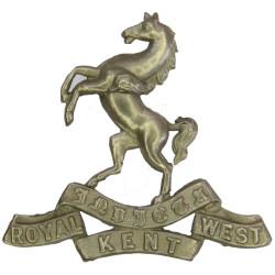 Queen's Own Royal West Kent Regiment   White Metal Other Ranks' metal cap badge