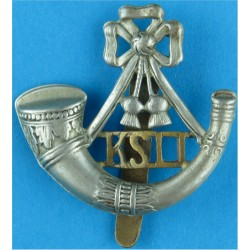 King's Shropshire Light Infantry Large Size  Bi-metallic Other Ranks' metal cap badge
