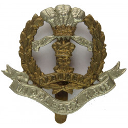 Cameronians (Scottish Rifles) Thick Wreath  White Metal Other Ranks' metal cap badge