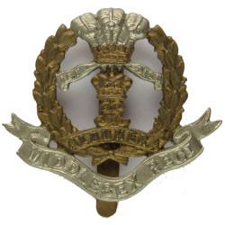 Middlesex Regiment   Bi-metallic Other Ranks' metal cap badge