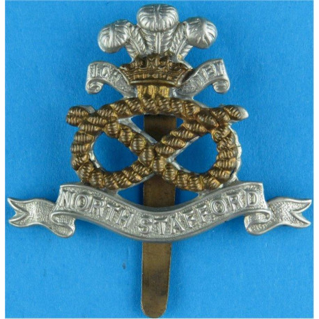 King's Royal Rifle Corps - 1905-1952 Voided Centre with King's Crown. Blackened Other Ranks' metal cap badge