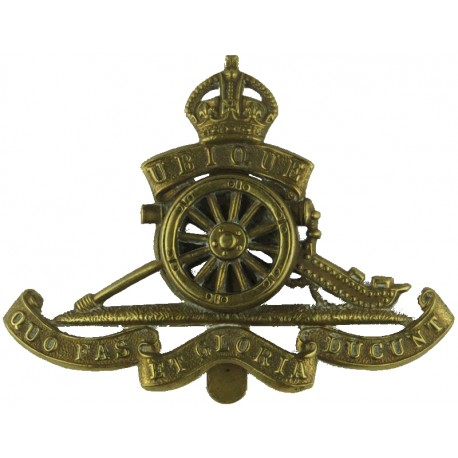 Royal Army Service Corps EiiR - 1952-1965 with Queen Elizabeth's Crown. Brass Other Ranks' metal cap badge