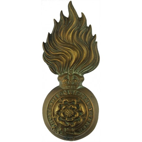 Green Howards - Coronet Pattern 1902-1952  White Metal Other Ranks' metal cap badge