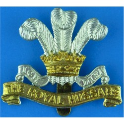 Royal Army Pay Corps 44mm High For Cap with King's Crown. Bi-metallic Other Ranks' metal cap badge