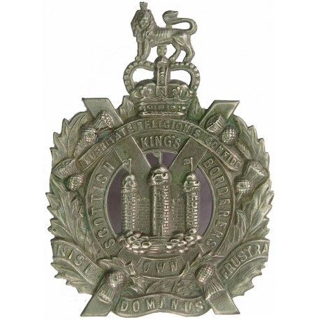 Parachute Regiment Operational Issue with Queen Elizabeth's Crown. Blackened Other Ranks' metal cap badge