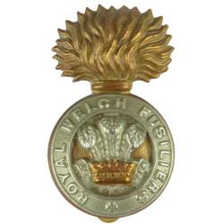 Royal Welch Fusiliers 1920 - 2006  Bi-metallic Other Ranks' metal cap badge