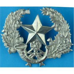 Cameronians (Scottish Rifles) Thick Wreath  White Metal Other Ranks' metal cap badge