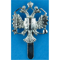 1st The Queen's Dragoon Guards   Chrome-plated Other Ranks' metal cap badge