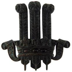 2nd King Edward VII's Own Gurkha Rifles Black  Brass Other Ranks' metal cap badge