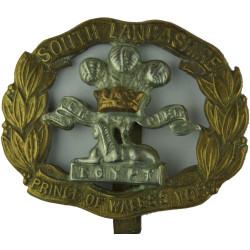 South Lancashire Regiment (Prince Of Wales's Vols) Large Type  Bi-metallic Other Ranks' metal cap badge