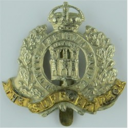 Corps Of Military Police GviR - 1935-1946 with King's Crown. Brass Other Ranks' metal cap badge