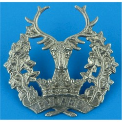 5th Royal Inniskilling Dragoon Guards with King's Crown. White Metal Other Ranks' metal cap badge