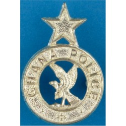 Ghana Police Collar Badge FL  Silver-plated Overseas Police, Prison or Corrections insignia