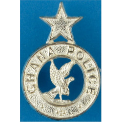 Ghana Police Collar Badge FR  Silver-plated Overseas Police, Prison or Corrections insignia