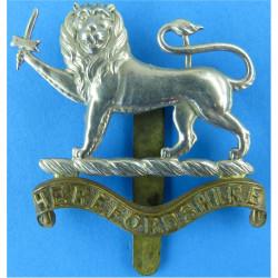 Herefordshire Regiment Pre-1947  Bi-metallic Other Ranks' metal cap badge