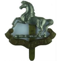 King's Regiment (Liverpool) Sealed 20 Jan 1927  Bi-metallic Other Ranks' metal cap badge