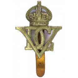 5th Royal Inniskilling Dragoon Guards 1922-1952 with King's Crown. White Metal Other Ranks' metal cap badge