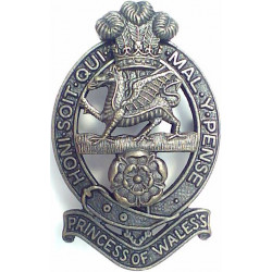 Princess Of Wales's Royal Regiment Beret Badge Also Officer-Issue  Bronze Other Ranks' metal cap badge