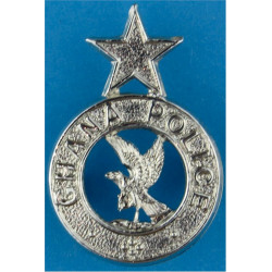 Ghana Police Collar Badge FL  Chrome-plated Overseas Police, Prison or Corrections insignia