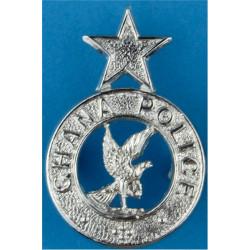 Ghana Police Collar Badge FR  Chrome-plated Overseas Police, Prison or Corrections insignia