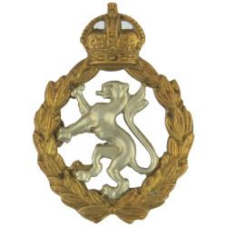 Women's Royal Army Corps 1949-1952 with King's Crown. Bi-metallic Other Ranks' metal cap badge