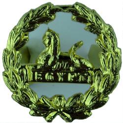 Royal Gloucestershire Berkshire & Wiltshire Regiment Back Badge - Gold  Gilt Other Ranks' metal cap badge
