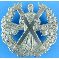 Liverpool Scottish (QO Cameron Highlanders)   White Metal Other Ranks' metal cap badge