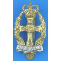 Queen Alexandra's Royal Army Nursing Corps  with Queen Elizabeth's Crown. Bi-metallic Other Ranks' metal cap badge