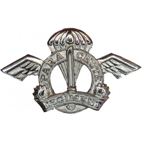 Parachute Regiment - Indian Army Post-1947  Chrome-plated Other Ranks' metal cap badge