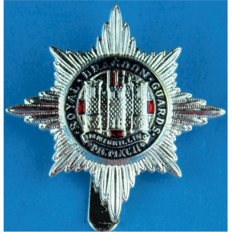 Royal Dragoon Guards - Full Size   Silver-plated and enamel Other Ranks' metal cap badge