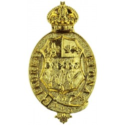 Eton College CCF 2004 Issue with King's Crown. Gilt Other Ranks' metal cap badge