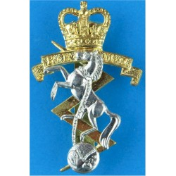 Royal Netherlands Army Junior NCOs Gilt and enamel Other Ranks' metal cap badge