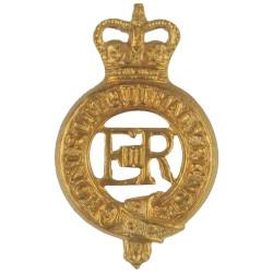 2nd Regiment Queen's Own Rifles Of Canada Queen's Crown. White Metal Other Ranks' metal cap badge