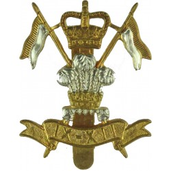 9th/12th Royal Lancers (Prince Of Wales's) 1960-2015 with Queen Elizabeth's Crown. Bi-metallic Other Ranks' metal cap badge