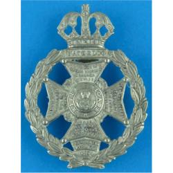 Rifle Brigade (1956-1958) Guelphic Crown  White Metal Other Ranks' metal cap badge