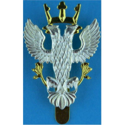 Mercian Regiment - Double-Headed Eagle 48mm High - ORs  Silver-plate and gilt Other Ranks' metal cap badge