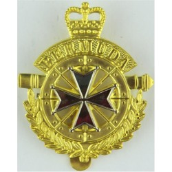 Royal Bermuda Regiment  with Queen Elizabeth's Crown. Bi-metallic Other Ranks' metal cap badge