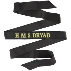 HMS Dryad (Maritime Warfare School) Cap-Tally  Woven Naval cap badge or cap tally