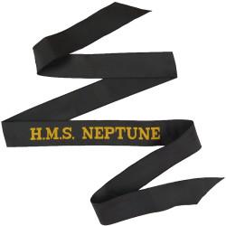 HMS Neptune (Submarine Base - Faslane: Scotland) Cap-Tally  Woven Naval cap badge or cap tally