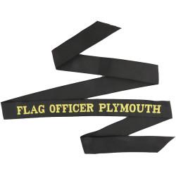 Flag Officer Plymouth Cap-Tally  Woven Naval cap badge or cap tally