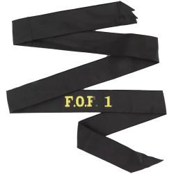 F.O.F. 1 (Flag Officer First Flotilla) Cap-Tally  Woven Naval cap badge or cap tally