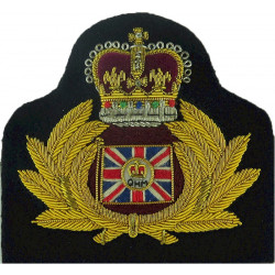 Port Auxiliary Master - Queen's Harbour Master Navy Shipping Pilot with Queen Elizabeth's Crown. Bullion wire-embroidered Naval