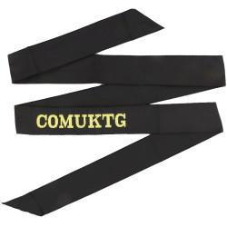 COMUKTG (Commander United Kingdom Task Group) Cap-Tally  Woven Naval cap badge or cap tally